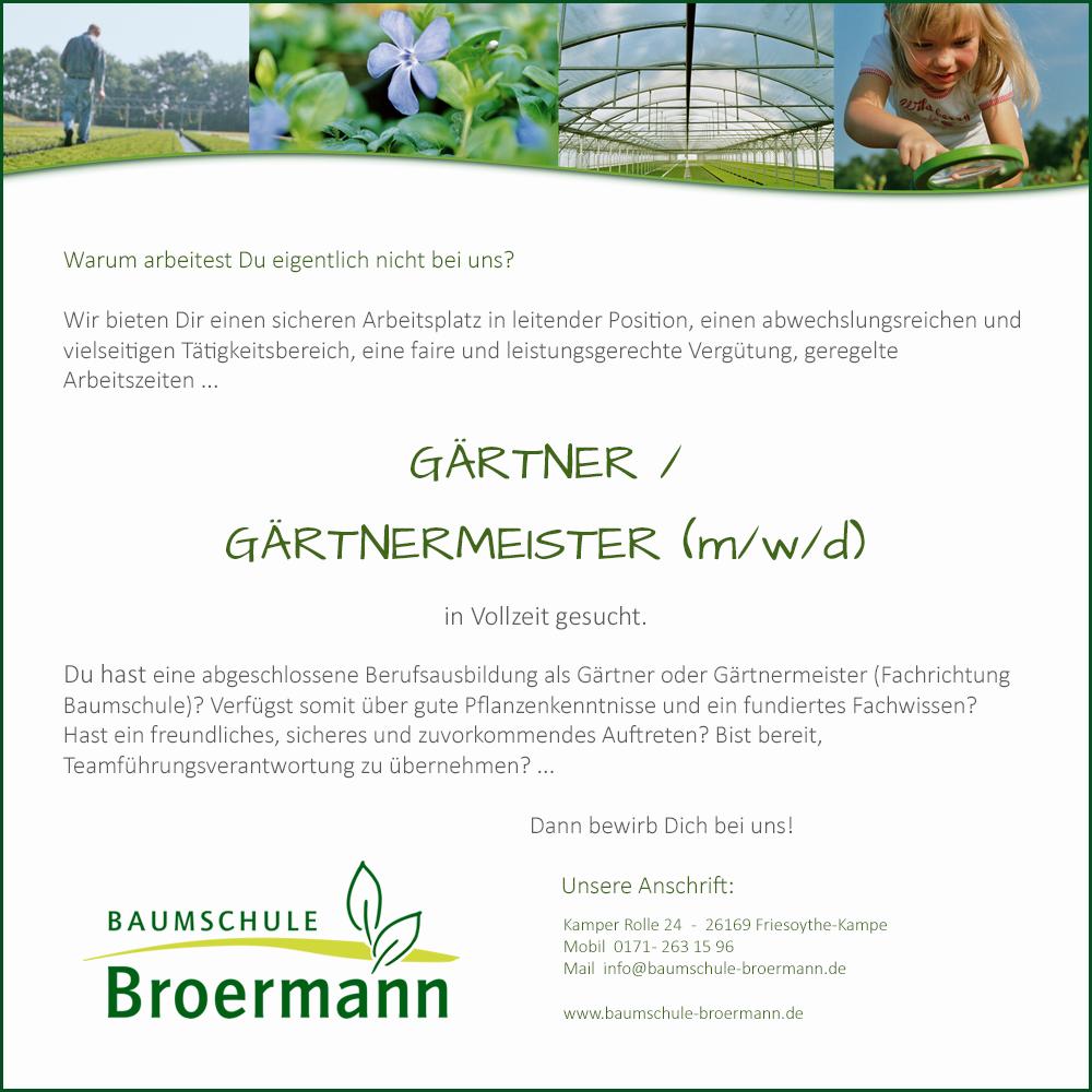 Gärtner / Gärtnermeister gesucht